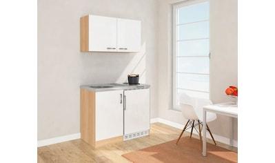 RESPEKTA Küchenzeile, mit Duo-Kochplattenfeld und Kühlschrank, Breite 100 cm kaufen