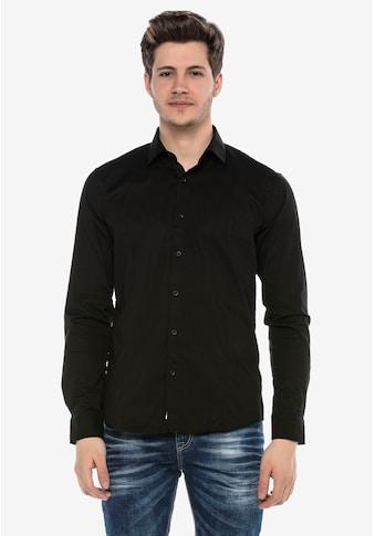 Cipo & Baxx Langarmhemd, im coolen Casual-Look kaufen