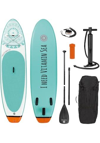 EASYmaxx Inflatable SUP-Board »MAXXMEE Stand-Up Paddle-Board 2020 weiß/blau«, (Spar-Set, 7 tlg., mit Paddel, Pumpe und Transportrucksack) kaufen