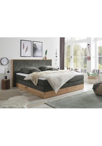 Boxspringbett »Bellevue«, (8 St.), mit 2 Bettkästen und Topper kaufen