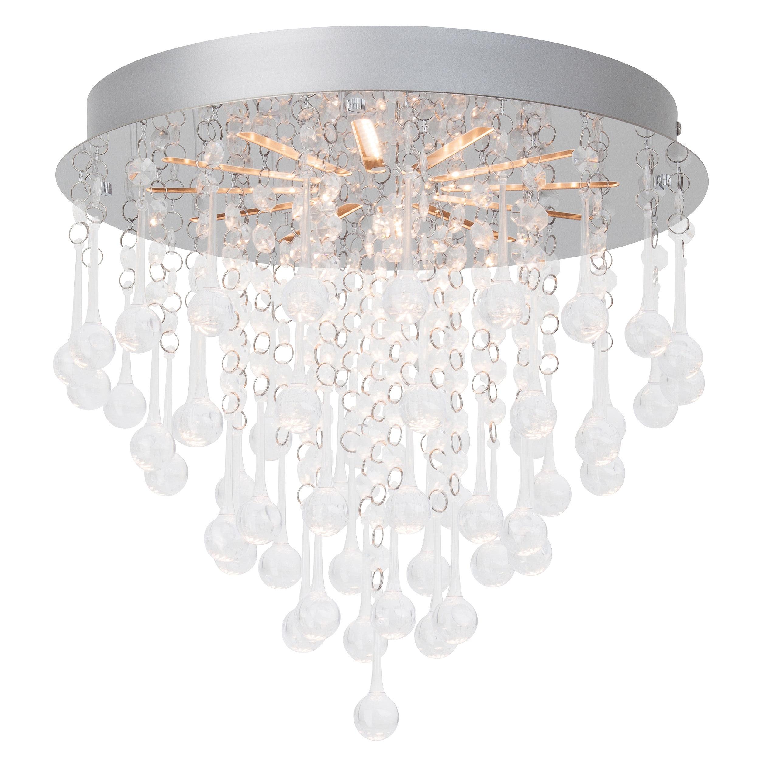 Brilliant Leuchten Svea LED Deckenleuchte 33cm chrom/transparent