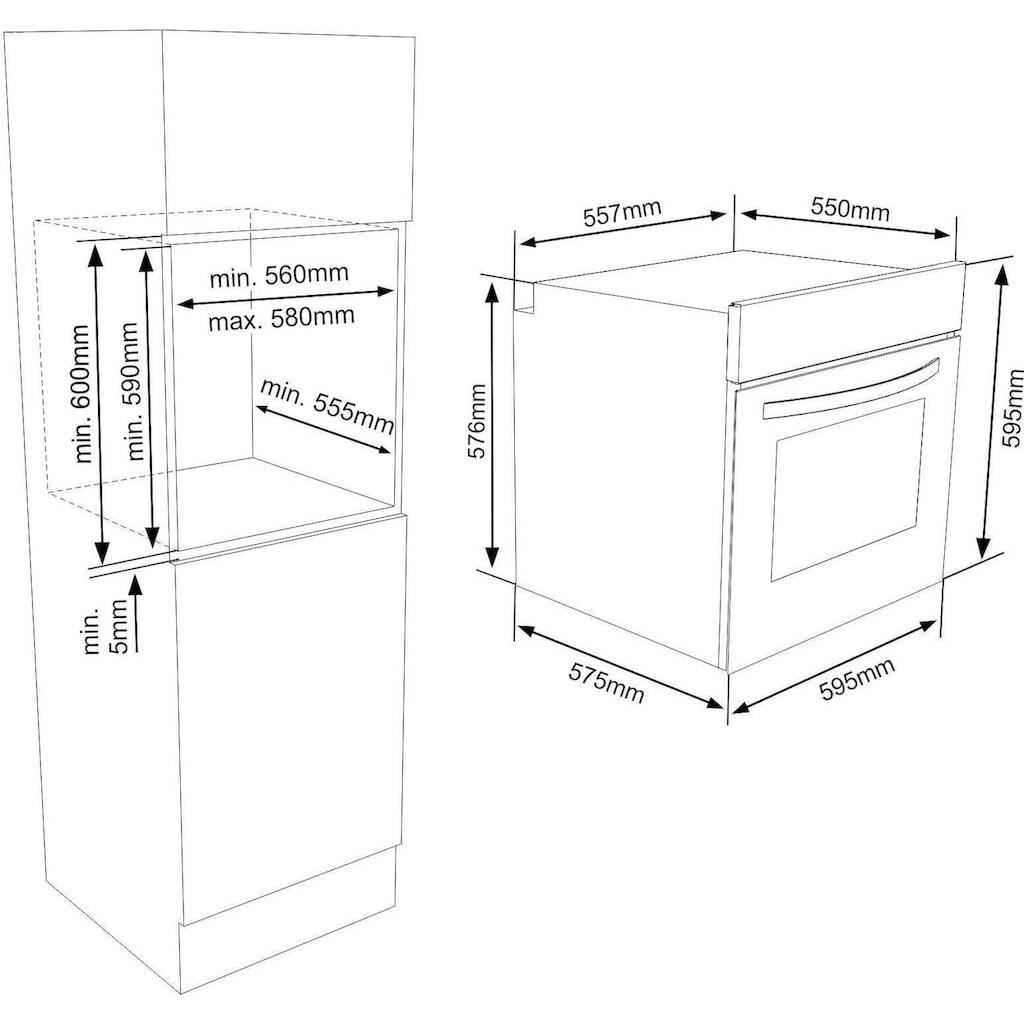 VESTEL Elektro-Herd-Set »VEH11026-1 + VEK23016«