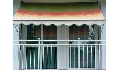 Angerer Freizeitmöbel Klemmmarkise, grün/rot/gelb, Ausfall: 150 cm, versch. Breiten kaufen
