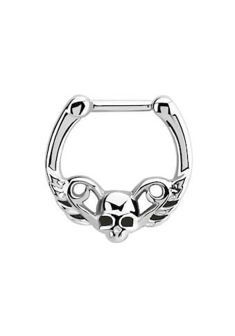 Adelia´s Nasenpiercing »Septum Clicker Nasenpiercing aus 316l Stahl mit Totenkopf«,... kaufen