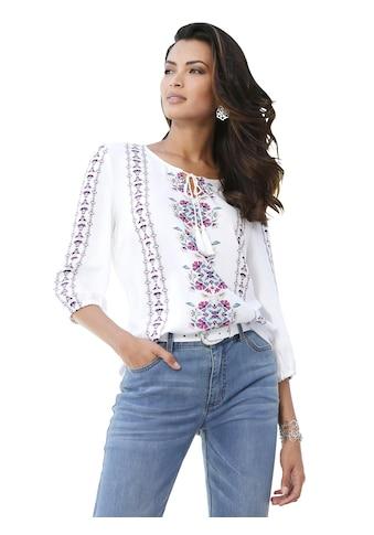 Inspirationen Bluse mit Blütenbordüren kaufen