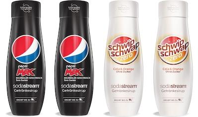 SodaStream Getränke-Sirup, PepsiMax & SchwipSchwap Zero, (4 Flaschen), für bis zu 9... kaufen