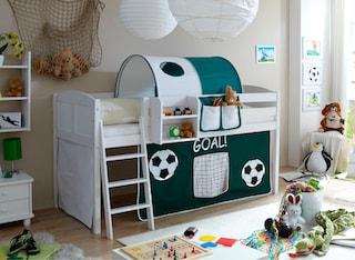 ticaa hochbett eric mit textil set kiefer auf rechnung. Black Bedroom Furniture Sets. Home Design Ideas