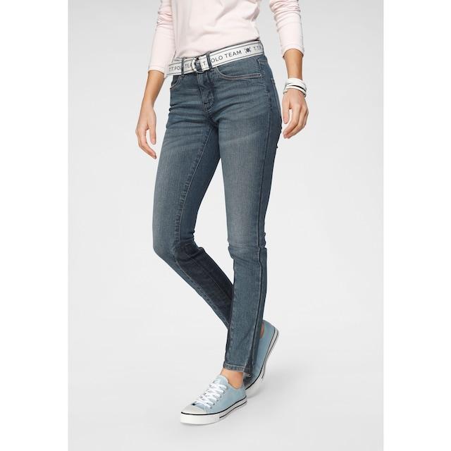 TOM TAILOR Polo Team Slim-fit-Jeans (Set, 2 tlg., mit abnehmbarem Gürtel)