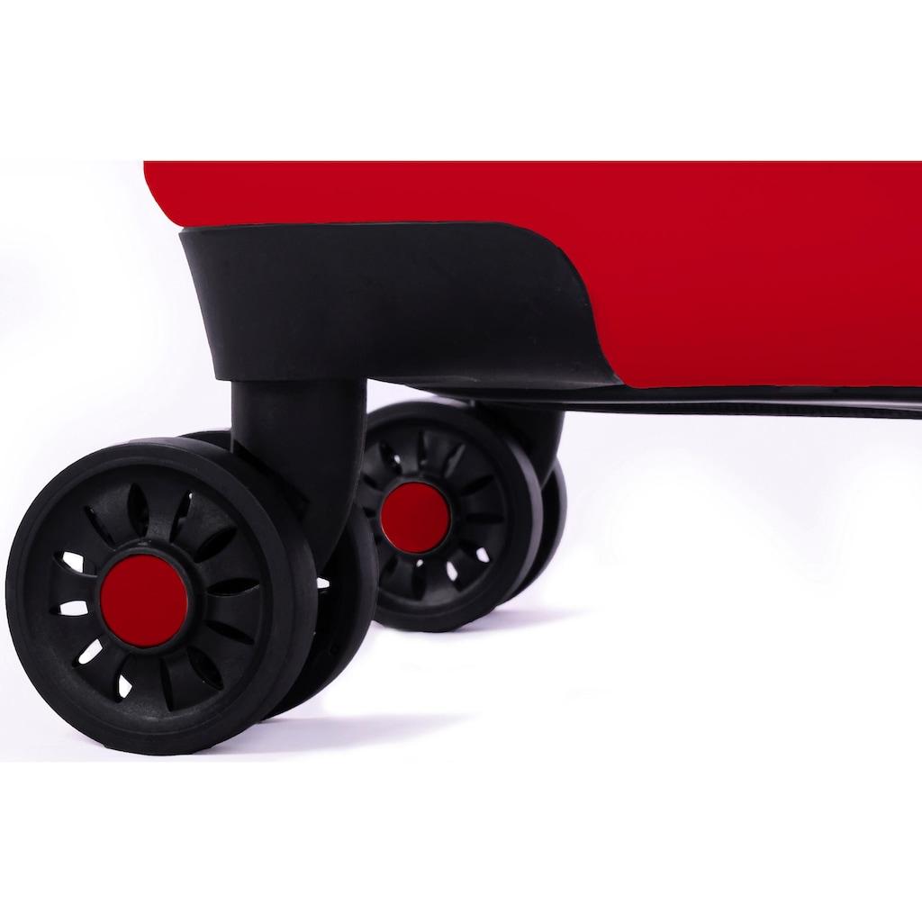 meinTrolley Hartschalen-Trolley »Einhorn unter Regenbogen, 55cm«, 4 Rollen, Made in Germany