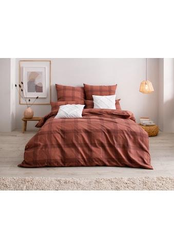 OTTO products Bettwäsche »Lennja«, mit dezentem Karomuster kaufen