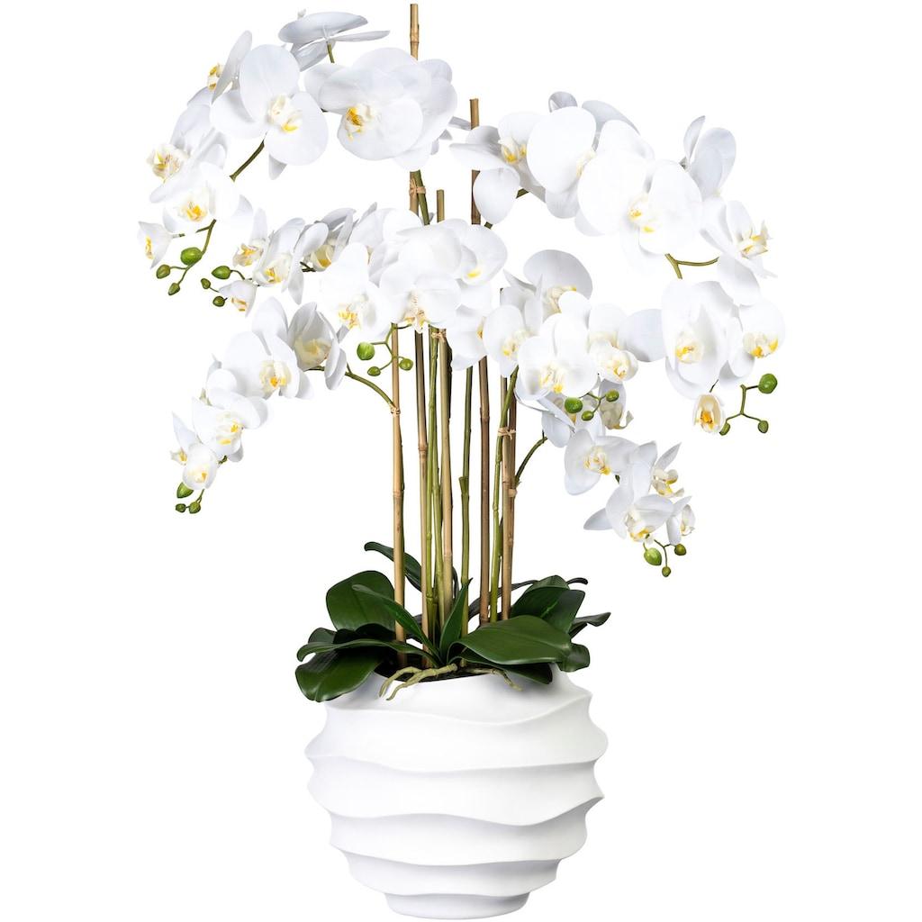 Creativ green Kunstorchidee »Phalaenopsis«, in Design-Kunststoffvase