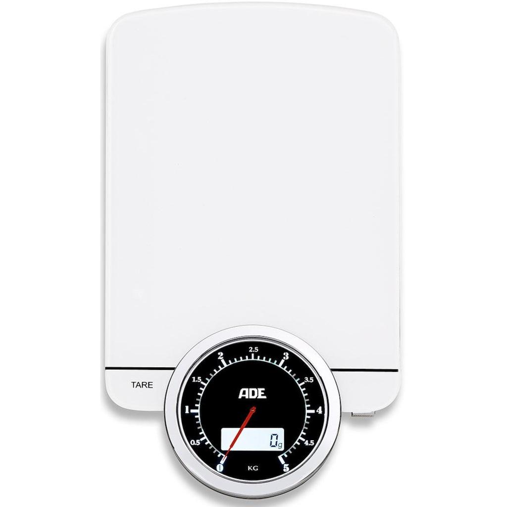 ADE Küchenwaage »KE 1500 Modern Times«, Dual-Display: digital & analog