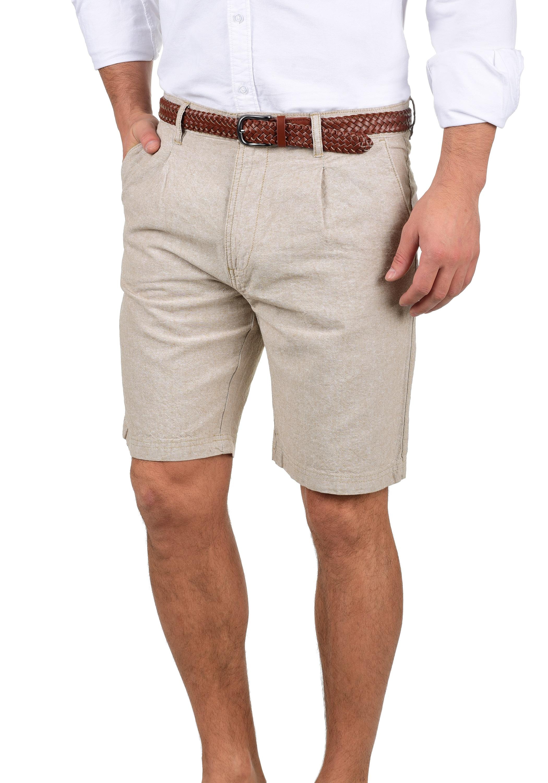 Indicode Shorts Ledian, (mit Gürtel), kurze Hose grau Herren Hosen
