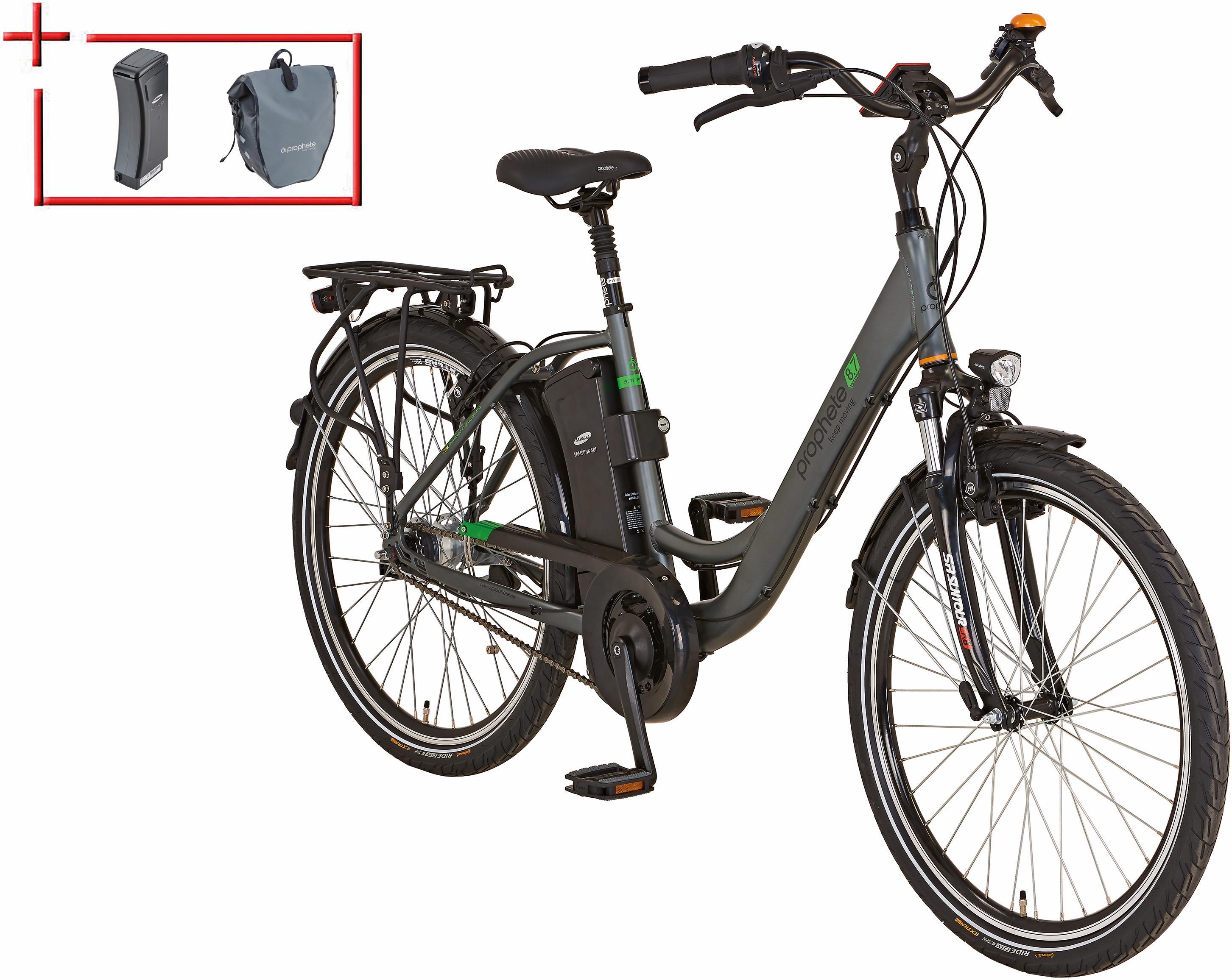 Prophete Da City E-Bike inkl 2 Akku u Packt Mittelm 26/28 Z 7 Gang Nexus Geniesser e 87