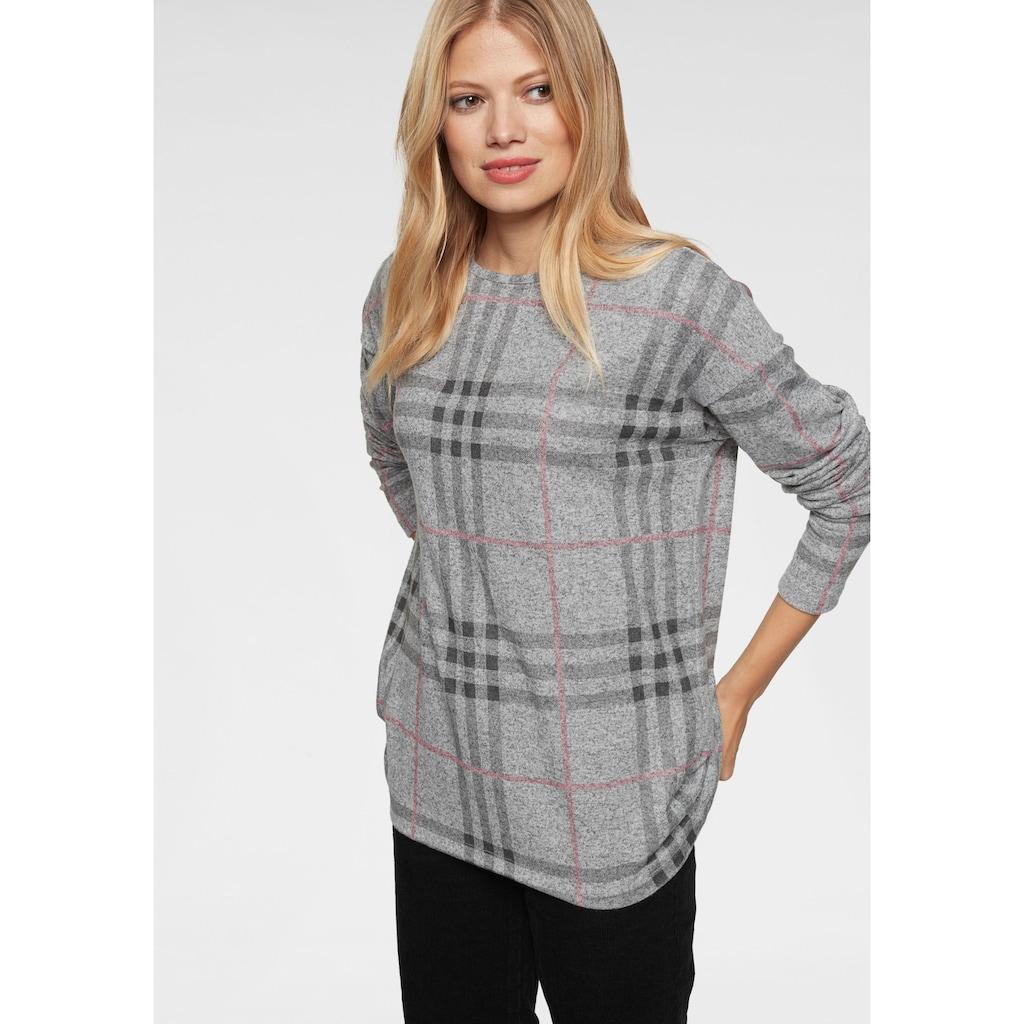 Aniston CASUAL Sweatshirt, im Karo Dessin