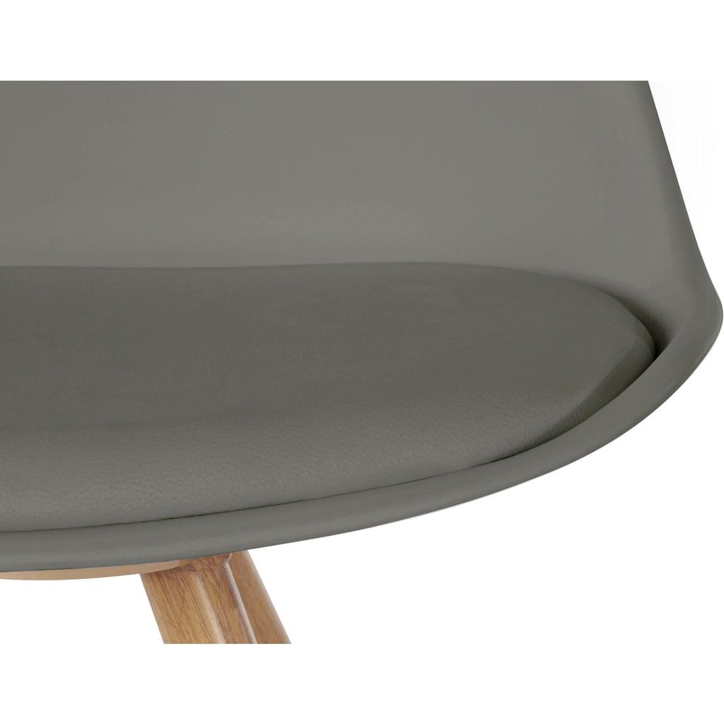 INOSIGN Esszimmerstuhl »Lazio«, aus einem schönen Metallgestell in Holzoptik, in unterschiedlichen Trendfarben erhältlich