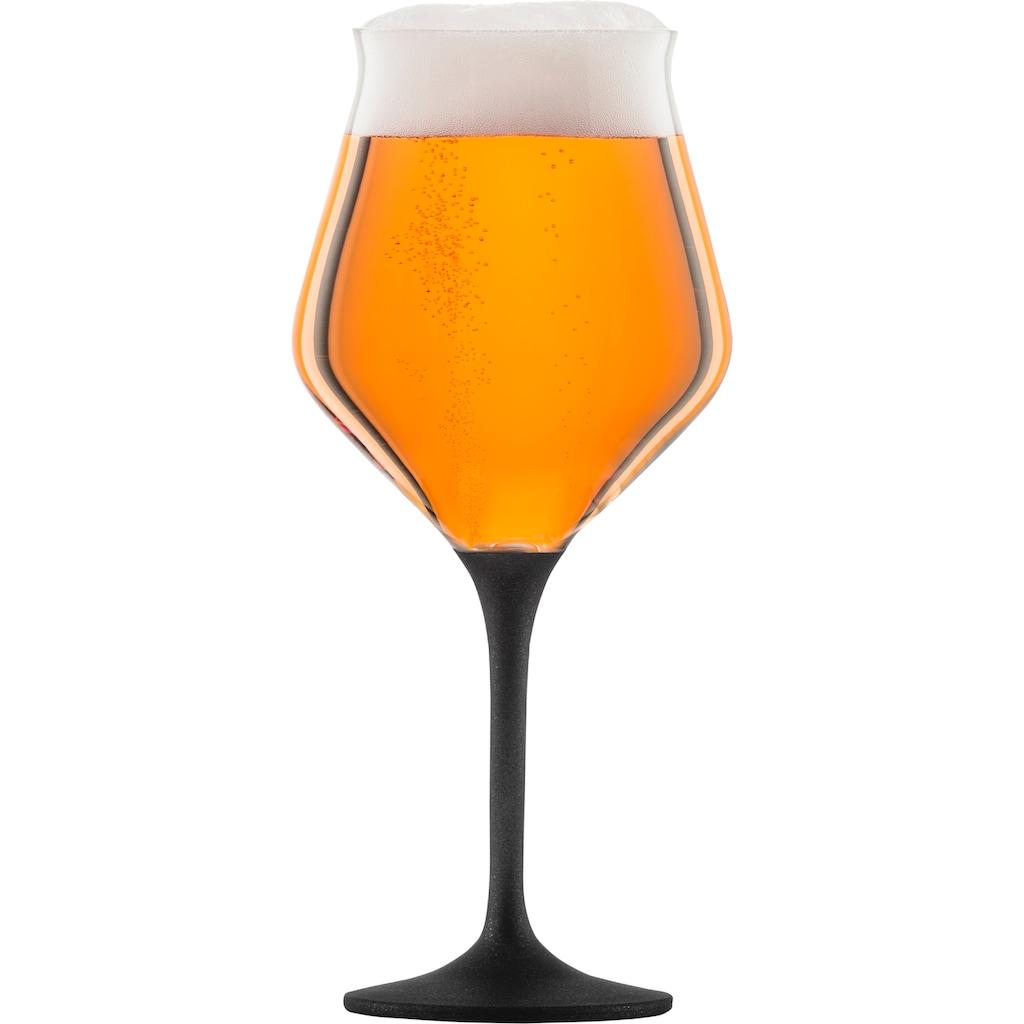 Eisch Bierglas »Craft Beer Kelch«, (Set, 2 tlg.), bleifrei, 435 ml, 2-teilig