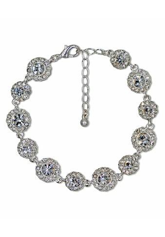 J.Jayz Armband »glitzernde Blumenelement, glamourös«, mit Kristall- und Glassteinen kaufen