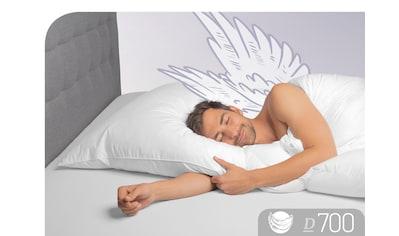 Schlafstil 3-Kammer-Kopfkissen »D700«, Füllung: Aussen: 100% Gänsedaunen; Innen: 100% Gänsefedern, Bezug: 100% Baumwolle, (1 St.), hergestellt in Deutschland, allergikerfreundlich kaufen