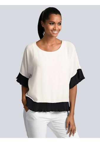 Alba Moda Bluse mit plissierten Saumabschlüssen kaufen