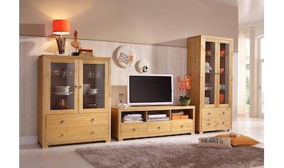 Home affaire Wohnwand »Gotland«, (Set, 3 tlg.), bestehend aus 1 Highboard, 1 TV-Lowboard und 1 Vitrine kaufen