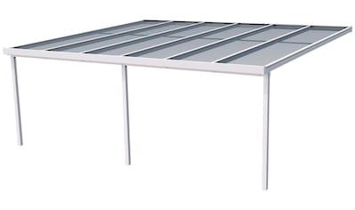 GUTTA Terrassendach »Premium«, BxT: 611x506 cm, Dach Polycarbonat gestreift weiß kaufen