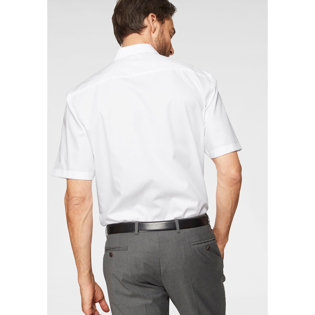 OLYMP Businesshemd »Luxor comfort-fit«, Kurzarmhemd mit Brusttasche, bügelfrei