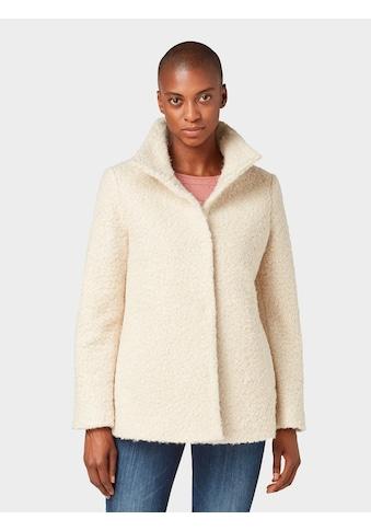 TOM TAILOR Fellimitatjacke »Mantel mit Stehkragen« kaufen