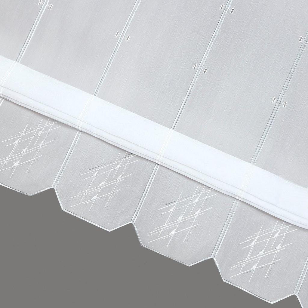 Gerster Scheibengardine nach Maß »Leo«, transparenter Effektvoile, bestickt