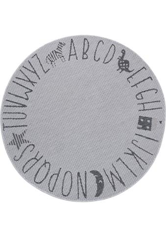 Lüttenhütt Kinderteppich »Alphabet«, rund, 3 mm Höhe, In- und Outdoor geeignet kaufen