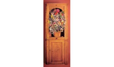 PAPERMOON Fototapete »Flower Ornament  -  Türtapete«, BlueBack, 2 Bahnen, 90 x 200 cm kaufen