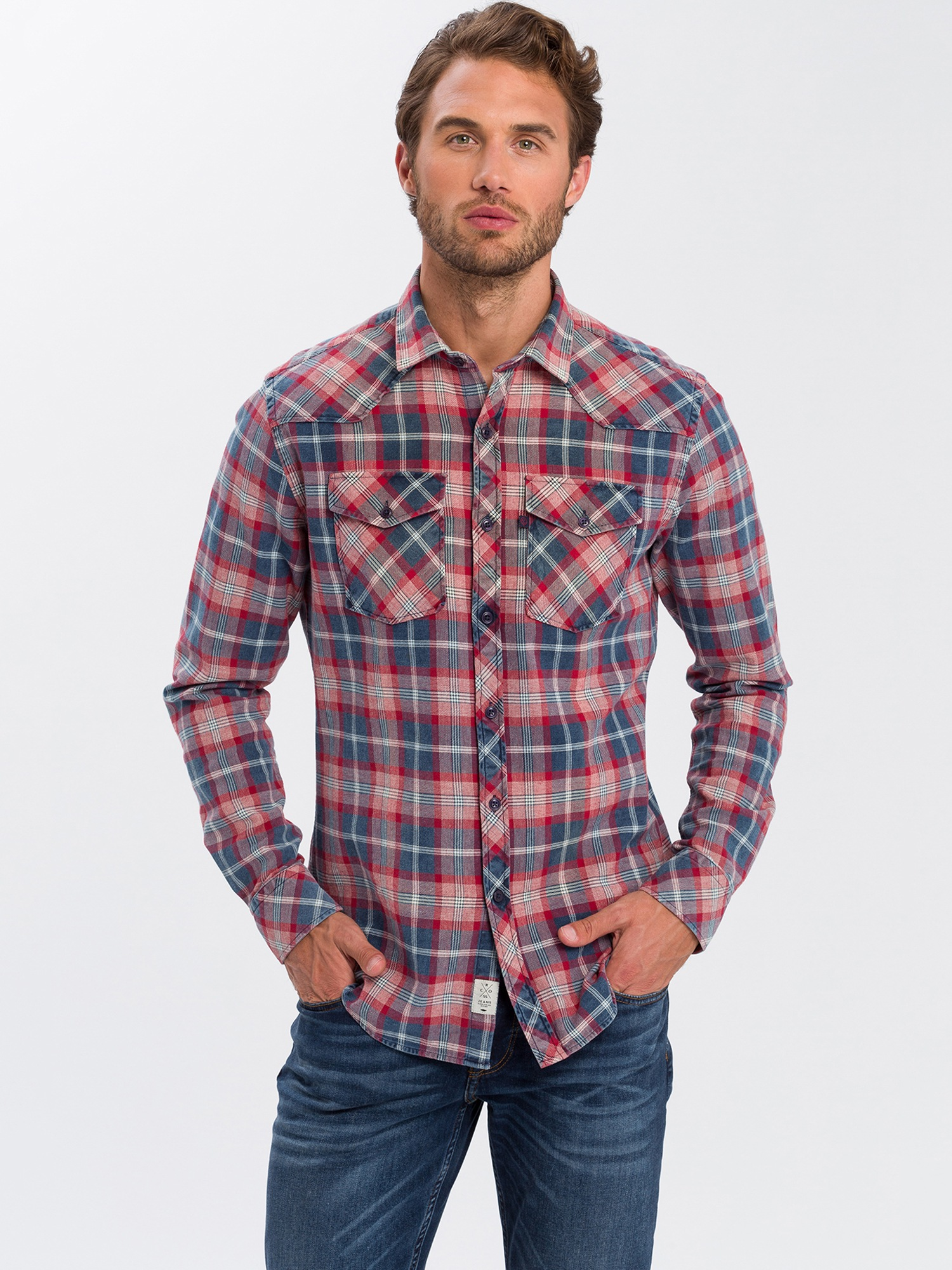Cross Jeans Karohemd 35246 | Bekleidung > Hemden > Jeanshemden | cross jeans