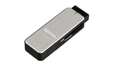 Hama USB-3.0-Kartenleser, SD/microSD, Silber kaufen