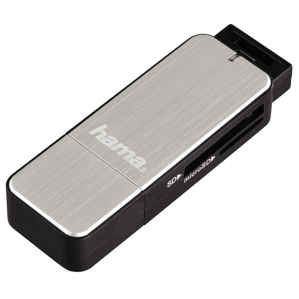 Hama USB-3.0-Kartenleser, SD/microSD, Silber