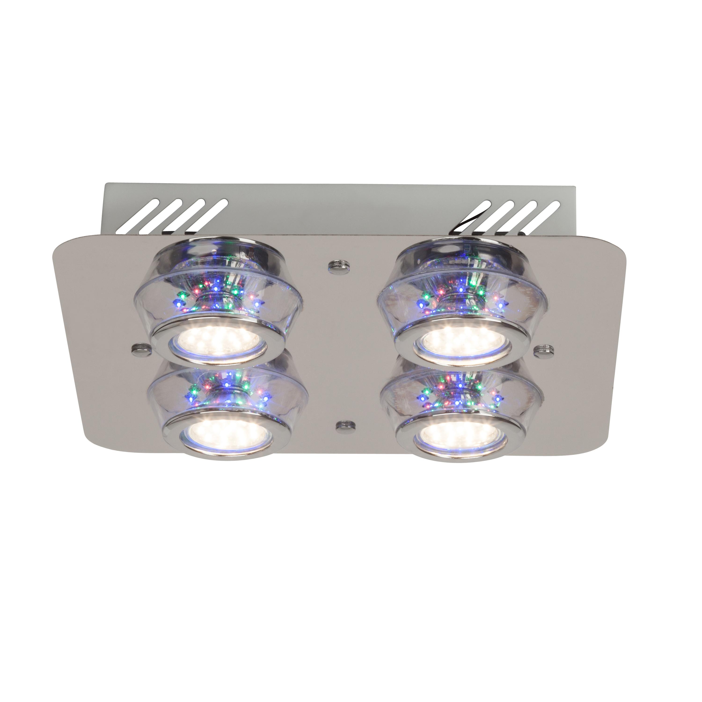 Brilliant Leuchten Kelly LED Deckenleuchte 4flg chrom