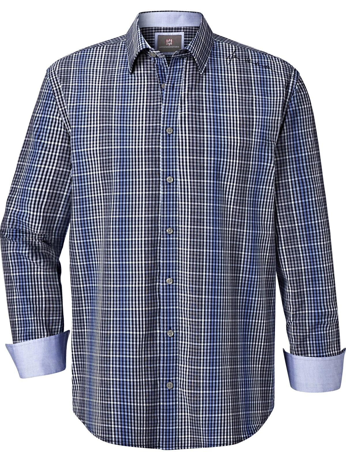 Jan Vanderstorm Langarmhemd MIJAN | Bekleidung > Hemden > Sonstige Hemden | Blau | Jan Vanderstorm