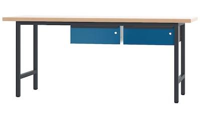 PADOR Werkbank »700.0.1.1.700/20 R«, B/T/H: 200x70x85,5 cm kaufen
