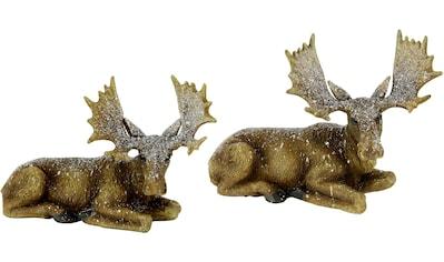 I.GE.A. Tierfigur »Elch liegend«, Polyresin kaufen