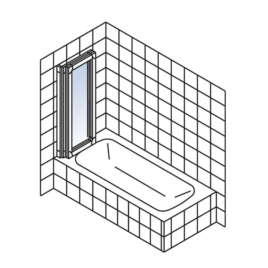 Schulte Badewannenaufsatz »Komfort«, BxH: 127 x 121 cm, zum Kleben oder Bohren