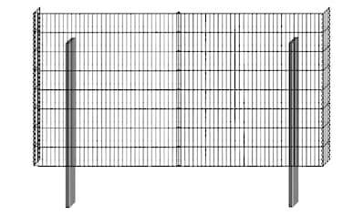 BELLISSA Mauersystem »Gabionenzaun Limes«, Basisbausatz, LxT: 230x12 cm, versch. Höhen kaufen