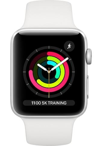 Apple Watch »Series 3 GPS, Aluminiumgehäuse mit Sportarmband 42mm« (, Watch OS 5, inkl. Ladestation (magnetisches Ladekabel) kaufen