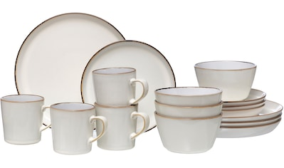 Ritzenhoff & Breker Kombiservice »Kombiservice Visby, 16tlg, Weiß«, (Set, 16 tlg.), jedes Stück ein Unikat kaufen