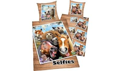 Kinderbettwäsche »Selfies Pferde«, kaufen