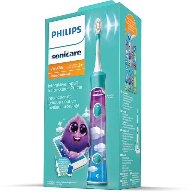 Philips Sonicare Elektrische Kinderzahnbürste HX6322/04, Aufsteckbürsten: 2 Stk.