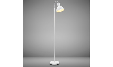 B.K.Licht LED Stehlampe, E27, Warmweiß, Stehleuchte Industrial Design Stand-Leuchte schwenkbar Metall E27 weiß kaufen