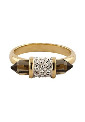 Buckley London Ring vergoldet mit Kristallen und Smokey Glas kaufen