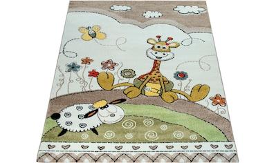Paco Home Kinderteppich »Cosmo 212«, rechteckig, 18 mm Höhe, mit Konturenschnitt,... kaufen