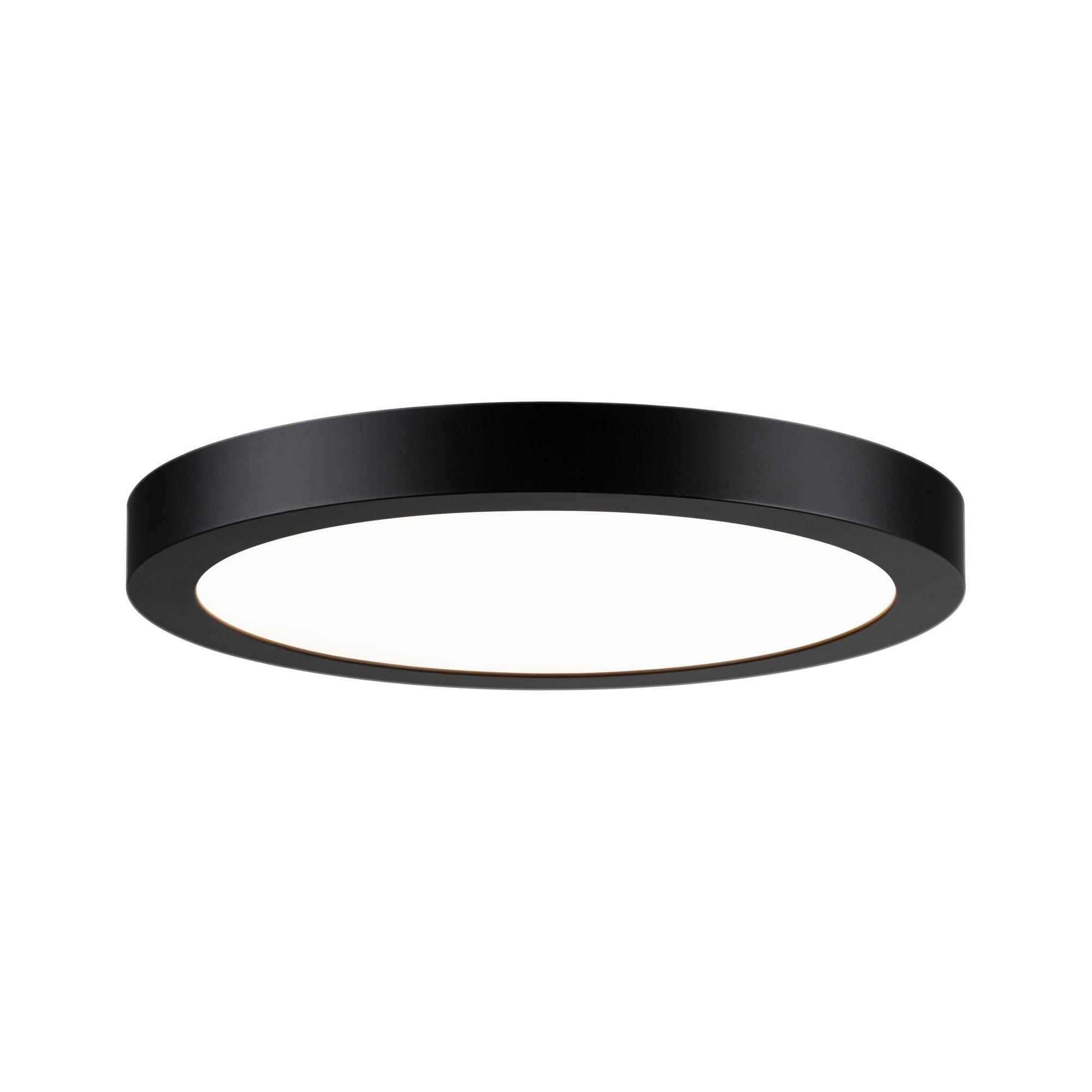 Paulmann LED Deckenleuchte Panel Abia rund 300mm 22W 2.700K Schwarz matt, 1 St., Warmweiß