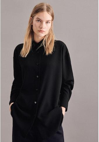 seidensticker Longbluse »Schwarze Rose«, Langarm Kragen Uni kaufen