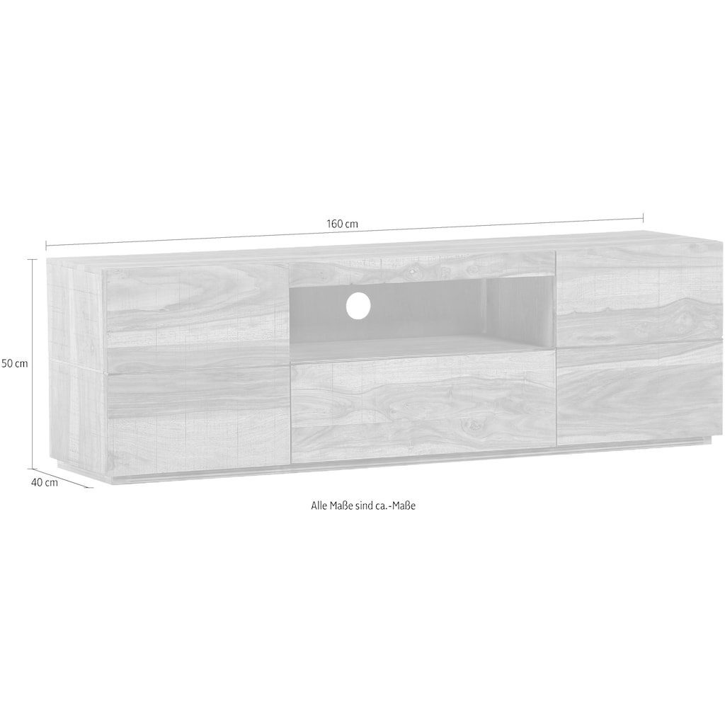 Gutmann Factory Lowboard »Tivoli«, aus Massivholz